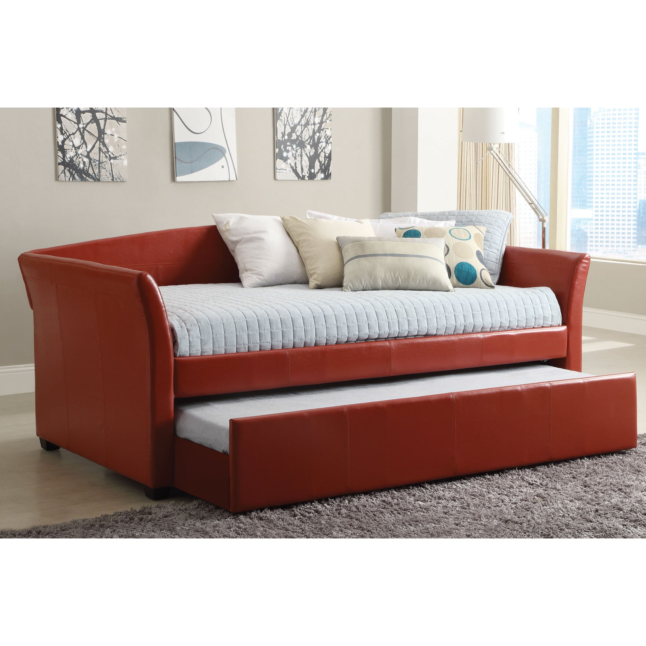 Hokku Designs Roma Daybed With Trundle Reviews Wayfair Supply