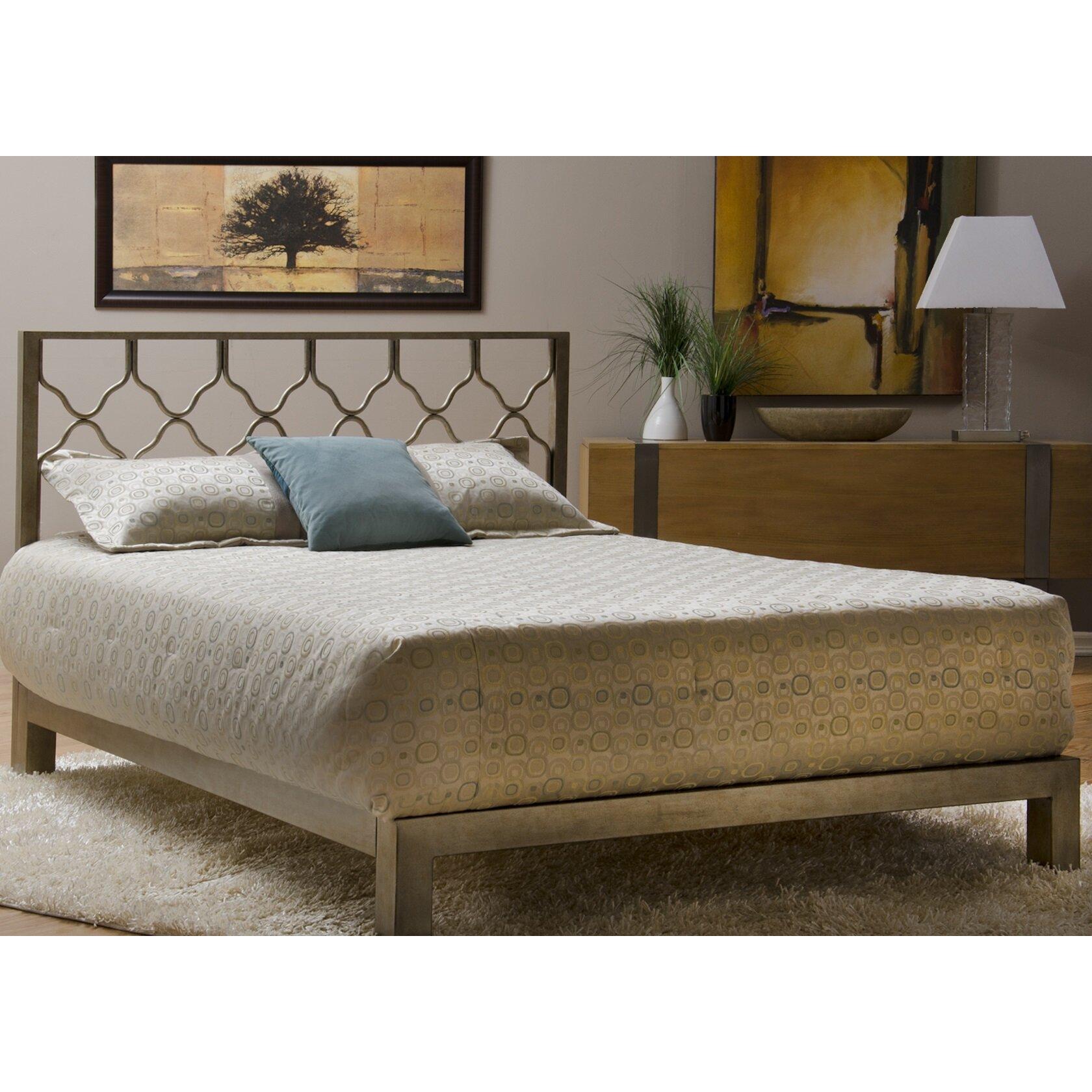 Gold metal bed