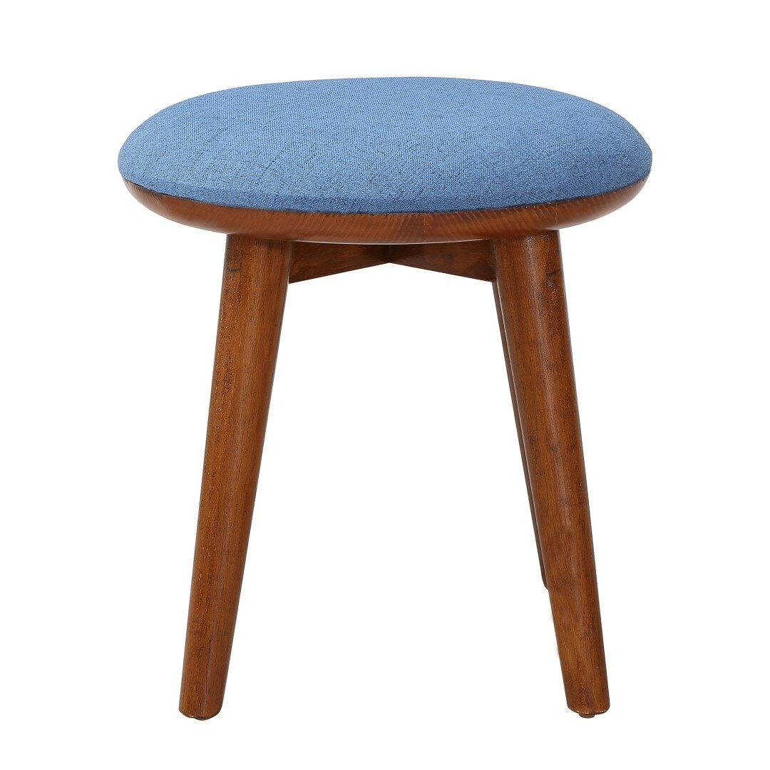 Upholstered vanity stool