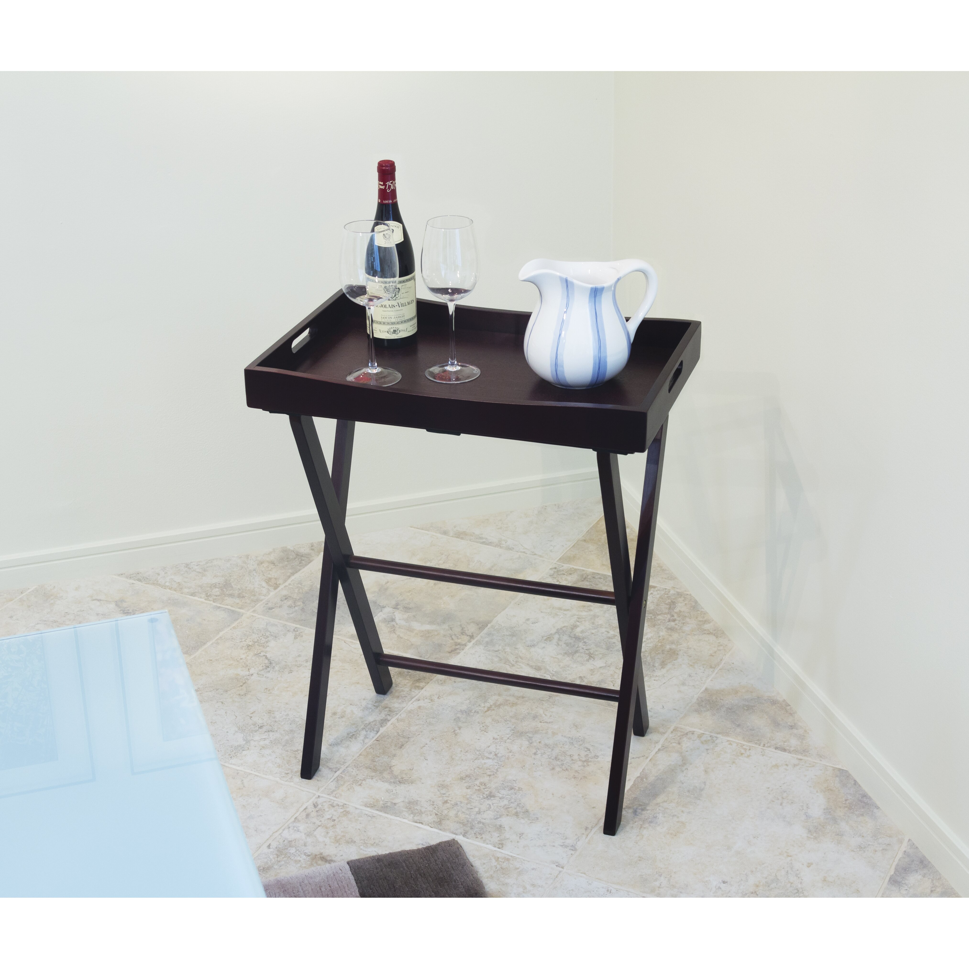 Lipper International Butler Tray With Right Height Luggage