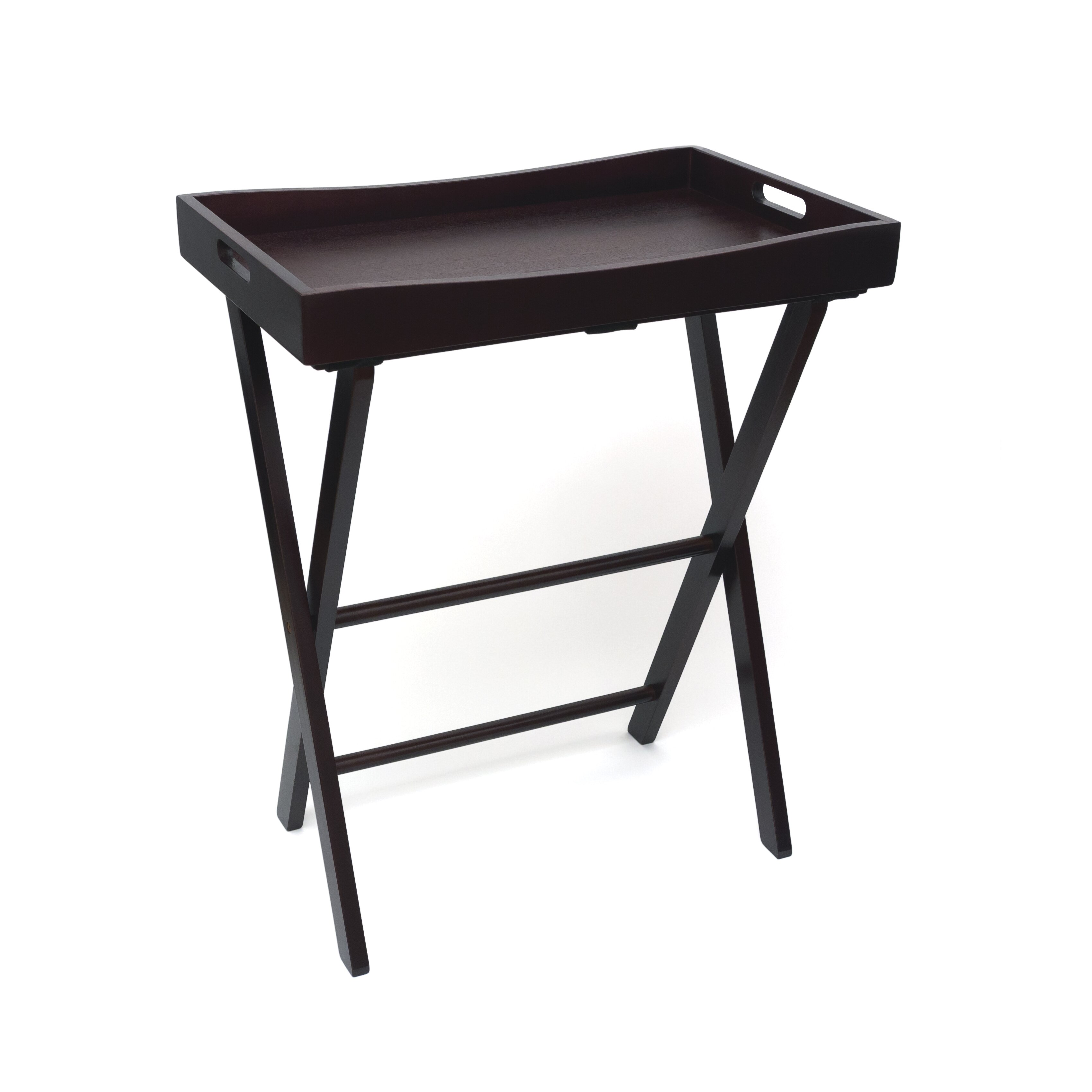 Lipper International Butler Tray With Right Height Luggage Rack
