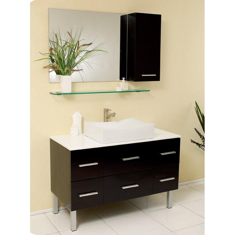 Fresca Stella Three Single Distante Modern Bathroom Vanity Set With Mirror Reviews Wayfair Ca