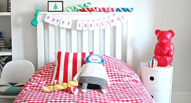 gewusst wie weihnachtlich dekorieren im kinderzimmer. Black Bedroom Furniture Sets. Home Design Ideas