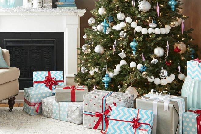 An Icy Aqua Christmas Tree   Wayfair
