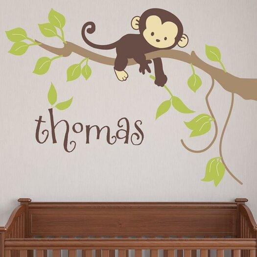 Alphabet garden designs monkey branch wall decal allmodern for Alphabet garden designs