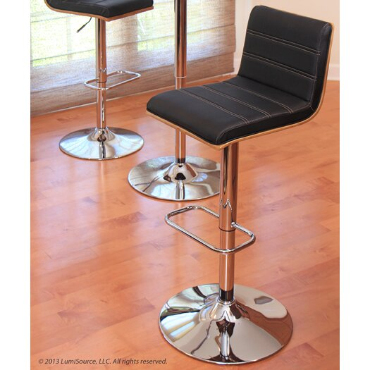 Lumisource Vasari Adjustable Height Swivel Bar Stool