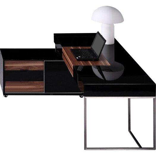 Vig Furniture Ezra Computer Desk With Keyboard Tray Reviews Allmodern