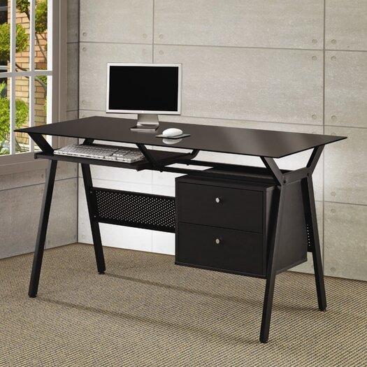 Wildon Home 174 Hartland Computer Desk With 2 Drawers