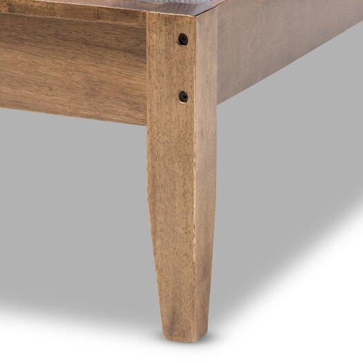 Wholesale Interiors Baxton Studio King Upholstered Platform Bed Reviews Allmodern