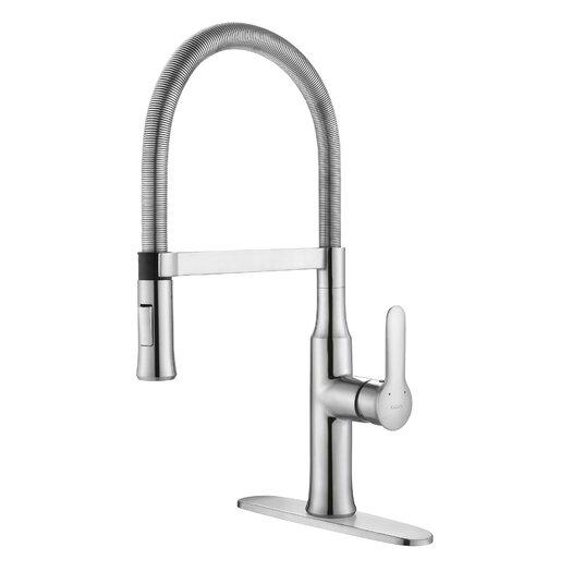 Kraus Modern Nola Single Lever Flex Commercial Style Kitchen Faucet