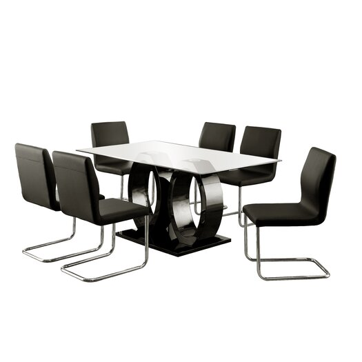 Hokku designs benedict 7 piece dining set reviews for Hokku designs dining room furniture