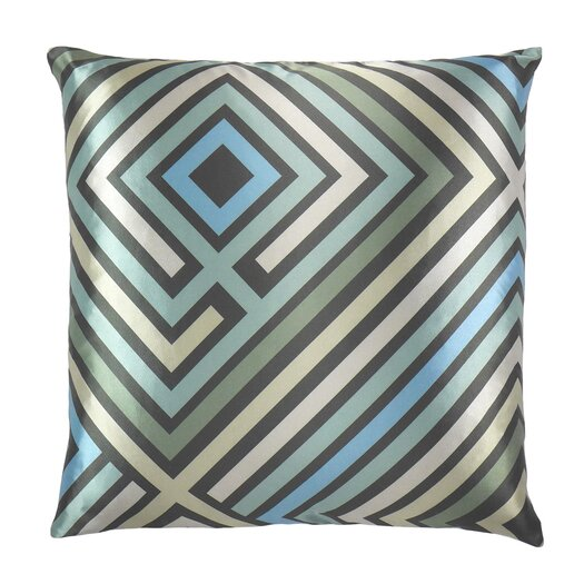NECTARmodern Maze Graphic Zig Zag Satin Throw Pillow & Reviews AllModern