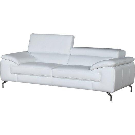 J M Furniture Italian Leather Sofa Reviews Allmodern