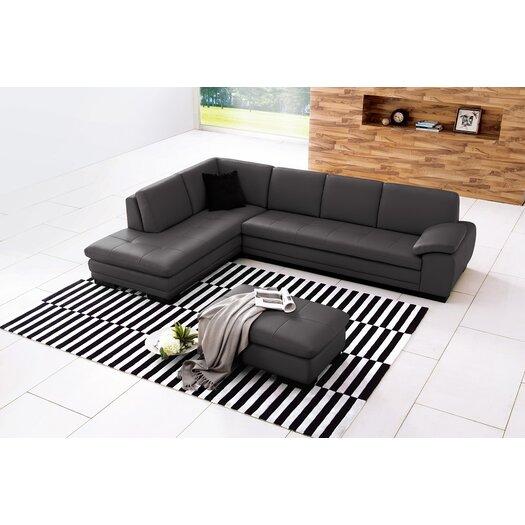 J M Furniture Austin Leather Sectional Reviews Allmodern
