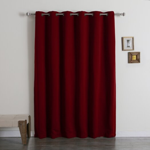best home fashion inc extra wide width blackout thermal single curtain panel reviews allmodern. Black Bedroom Furniture Sets. Home Design Ideas