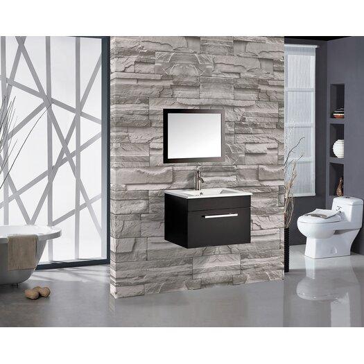 Mtdvanities nepal 24 single sink bathroom vanity set with for Bathroom designs in nepal