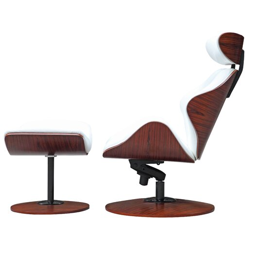 Fine mod imports luxur lounge chair and ottoman set for Black friday chaise lounge