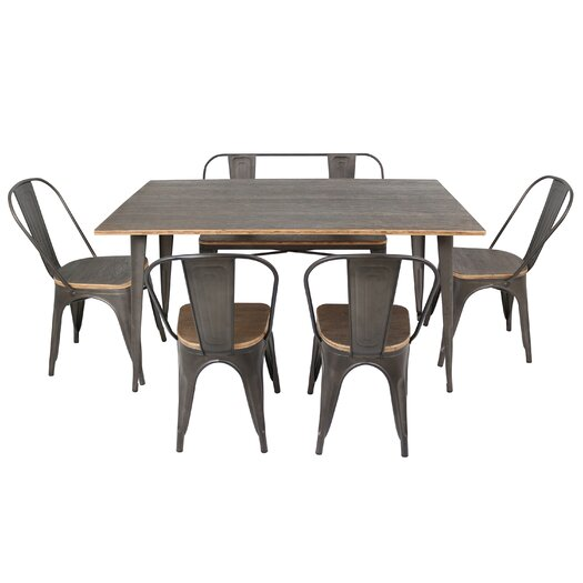 Trent austin design claremont 6 piece dining set reviews allmodern - Dining room sets austin tx ...