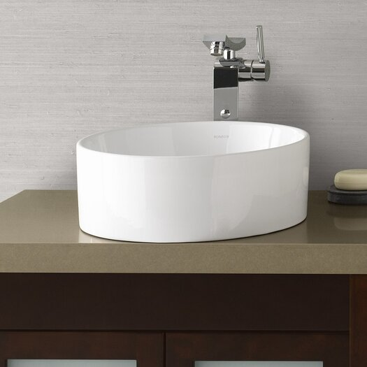 Ronbow Round Ceramic Vessel Bathroom Sink in White & Reviews ...