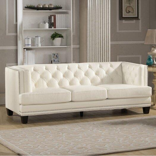 Amax newport 3 piece leather living room set allmodern for Three piece leather living room set
