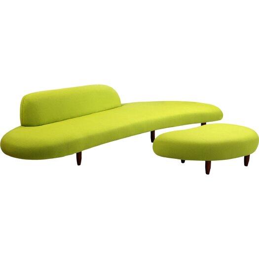 Kardiel Kidney Bean Mid Century Modern Sofa And Ottoman