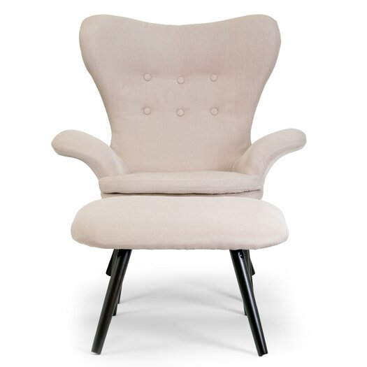 Glamour Home Decor 2 Piece Akari Fabric Accent Arm Chair