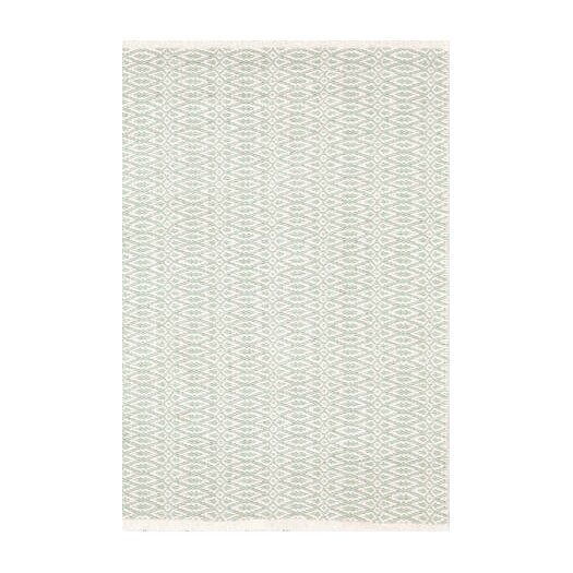 Dash and albert rugs fair isle hand woven green white area for Dash and albert blankets