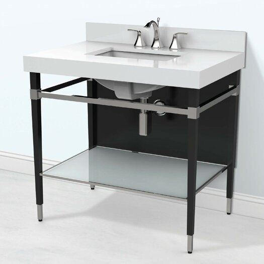 decolav motallegro 36 single freestanding vanity allmodern. Black Bedroom Furniture Sets. Home Design Ideas