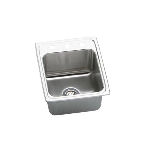 "Extra Deep Kitchen Sink: Elkay Lustertone 17"" X 20"" Extra Deep Self-Rimming Kitchen"