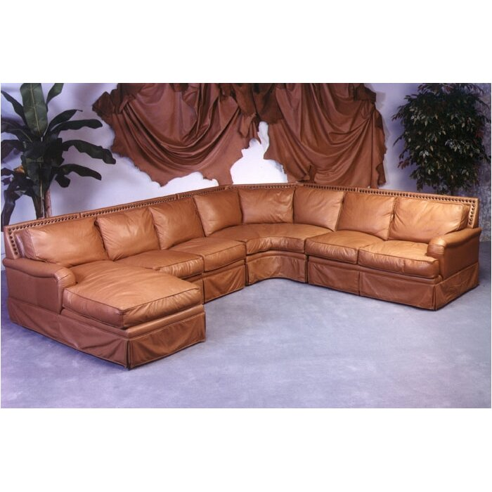 Omnia Leather Hacienda Sleeper Sectional