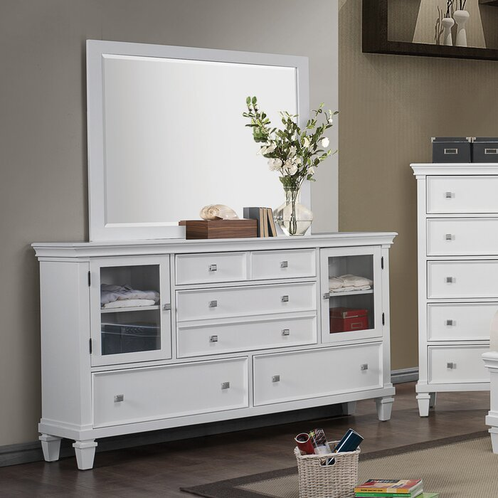 Wildon Home ® 6 Drawer Combo Dresser with Mirror