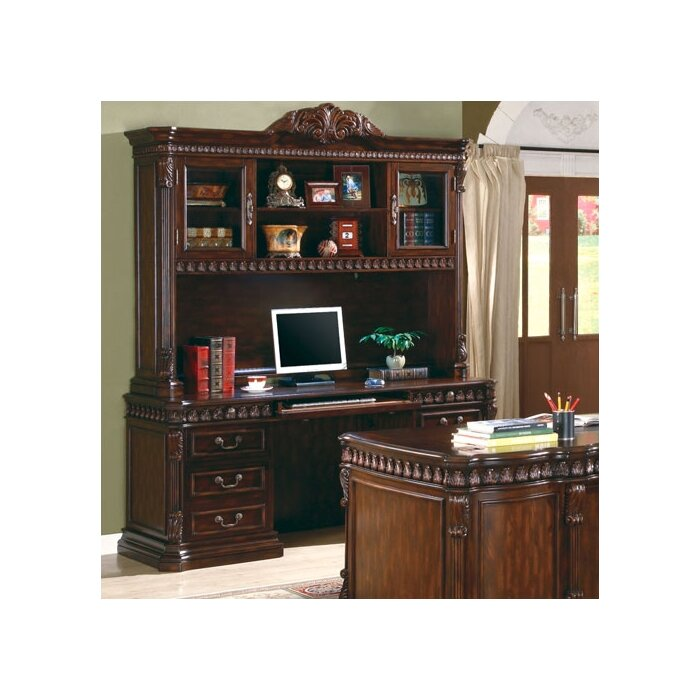 Wildon Home ® Corning Computer Credenza and Hutch