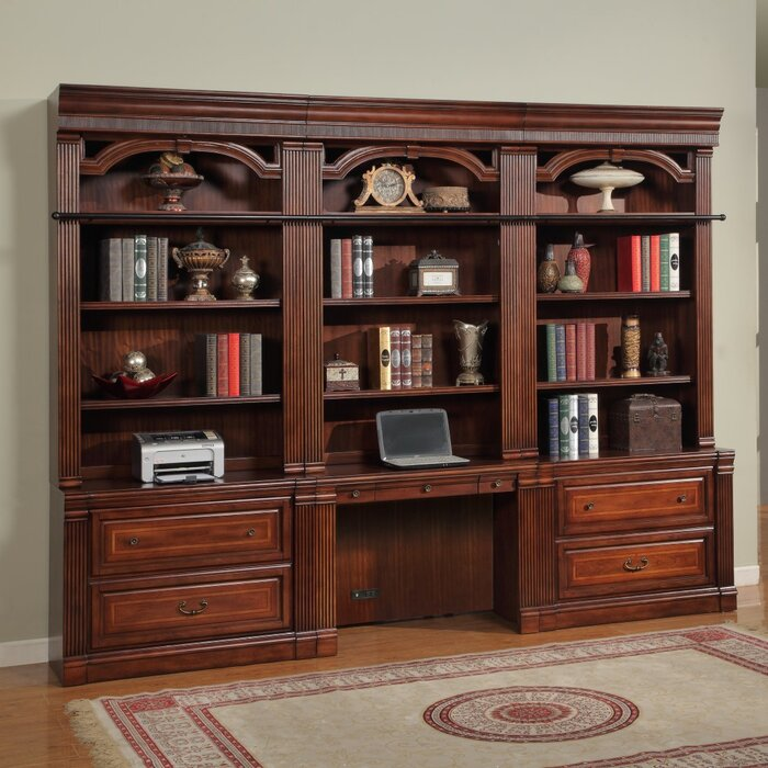 Astoria Grand Wakefield 2 Piece Library File and Hutch Image
