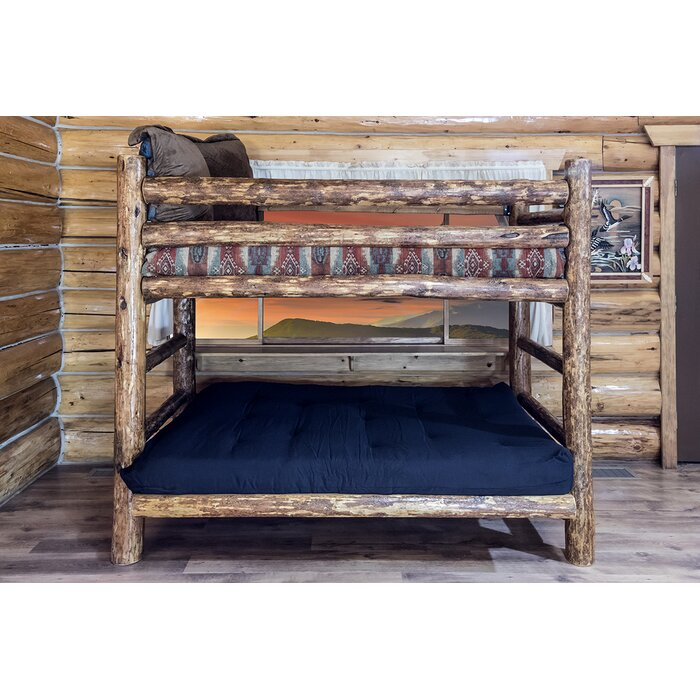 Montana Woodworks® Glacier Country Twin Over Full Futon Bunk Bed Customizable Bedroom Set