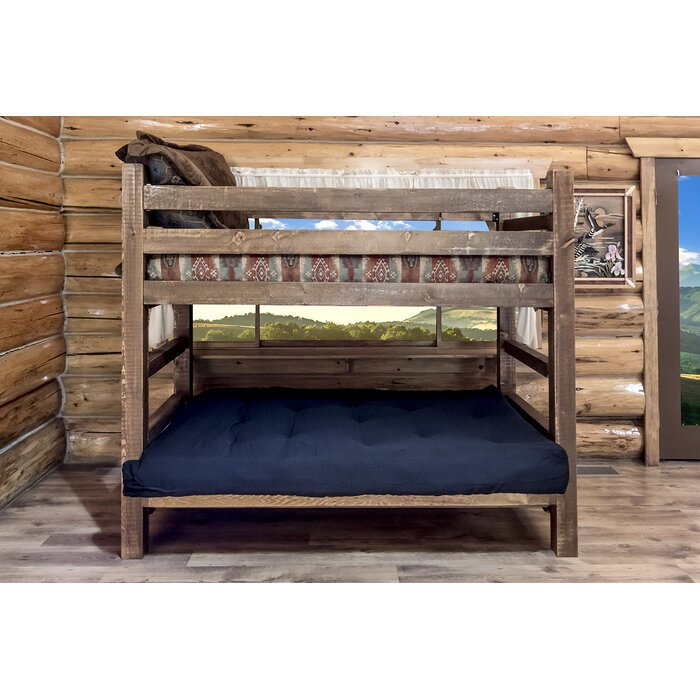 Montana Woodworks® Homestead Twin Futon Bunk Bed Customizable Bedroom Set