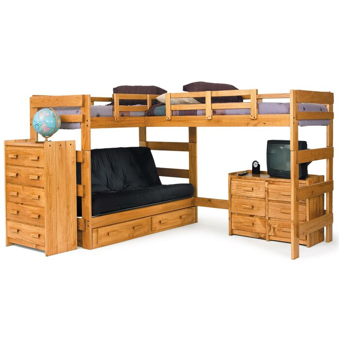 Chelsea Home L-Shaped Bunk Bed Customizable Bedroom Set