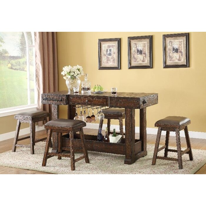ECI Furniture Gettysburg Kitchen Island Set