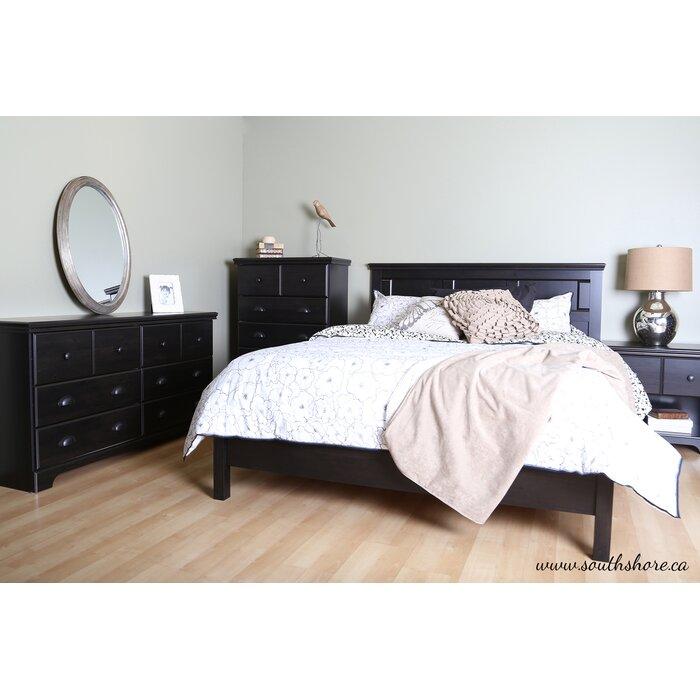 South Shore Worcester Queen Platform Customizable Bedroom Set
