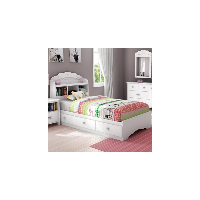 South Shore Tiara Twin Platform Customizable Bed..