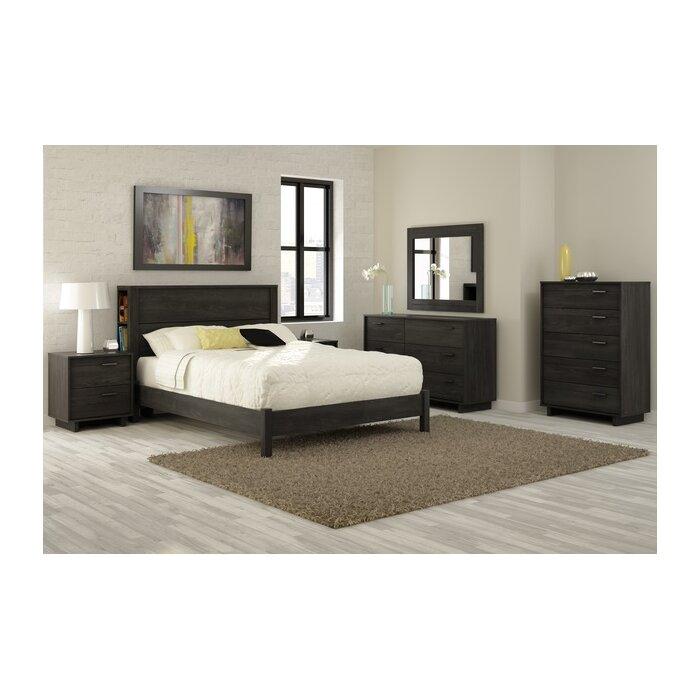 South Shore Fynn Platform Customizable Bedroom Set