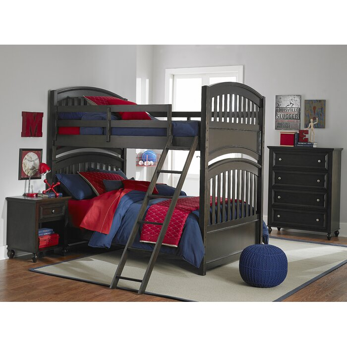 LC Kids Academy Full Bunk Bed Customizable Bedroom Set