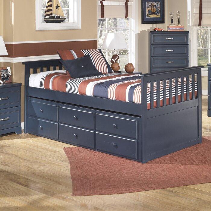 Signature design by ashley leo twin slat customizable - Ashley bedroom furniture reviews ...