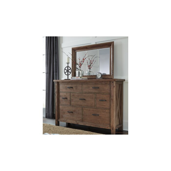 Signature Design by Ashley 7 Drawer Dresser with Mirror