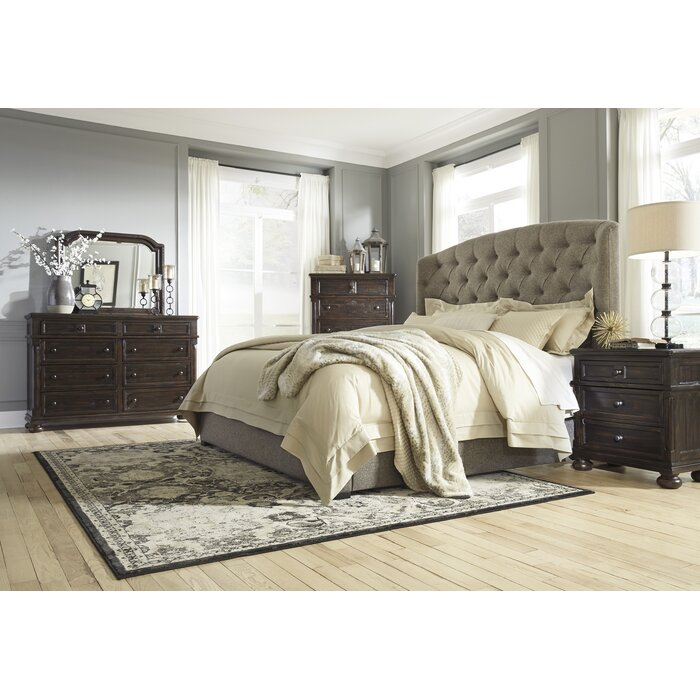 Darby Home Co Almont Upholstered Customizable Be..