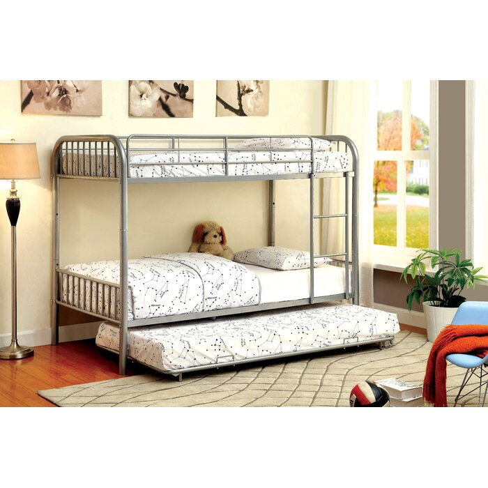 Hokku Designs Prism Twin Bunk Bed with Tr..