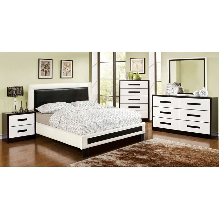 verzaci platform customizable bedroom set bedroom set light wood vera
