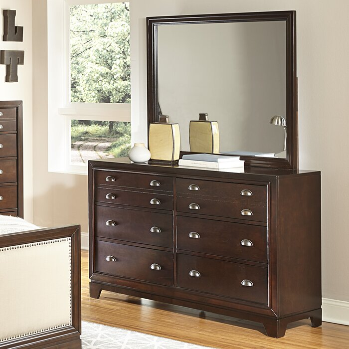 Homelegance Bernal Heights 6 Drawer Dresser with Mirror