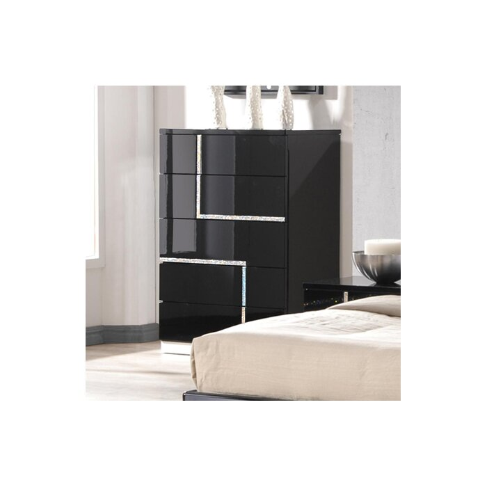 J M Furniture Lucca Platform Customizable Bedroom Set Reviews