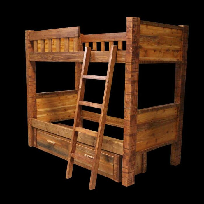 Utah Mountain Barnwood Bunk Bed