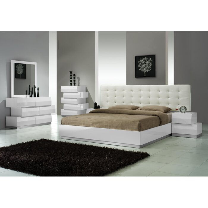 Wade logan matt platform customizable bedroom set for Bedroom set with bed